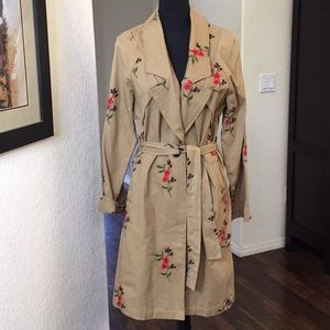 NWOT- Anthropology Trench Coat